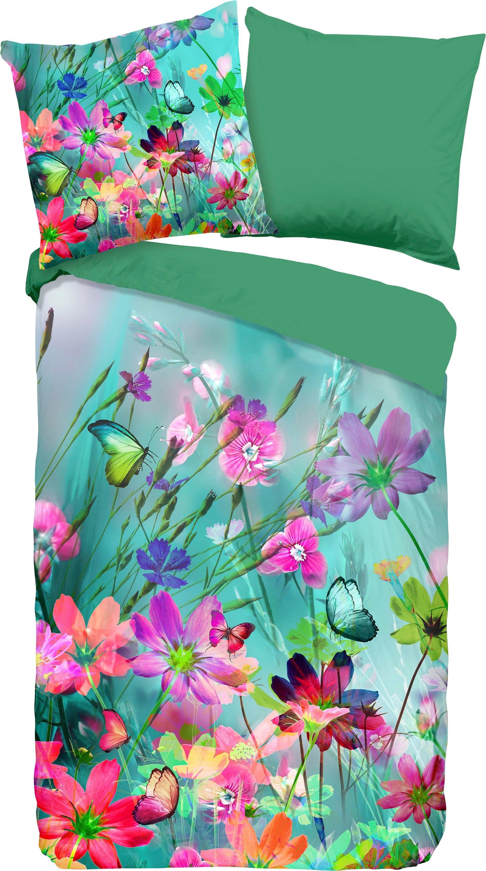 good morning tweezijdig te gebruiken overtrekset Belle met bloemen (2-delig) - verschillende betaalmethodes