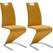 mca furniture vrijdragende stoel amado set van 2, 4 en 6 stuks, stoel belastbaar tot 120 kg (set, 6 stuks) geel