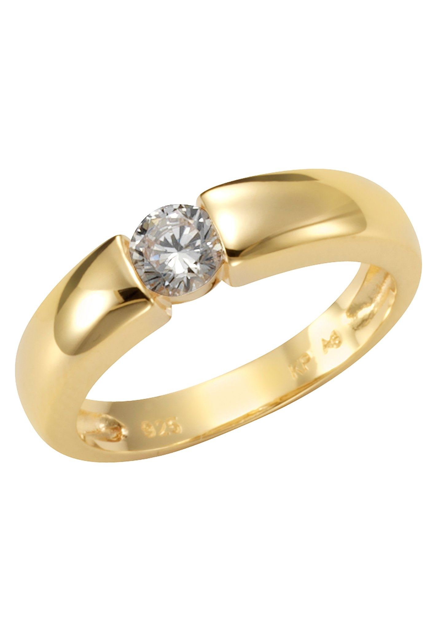 Firetti zilveren ring »Spannring-Optik, glänzend vergoldet, klassisch« veilig op otto.nl kopen