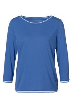 h.i.s shirt met 3-4-mouwen met hoogwaardige ribboorden blauw
