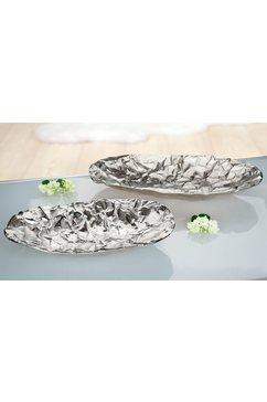 gilde decoratieve schaal »gilde schale oval arrugada« zilver