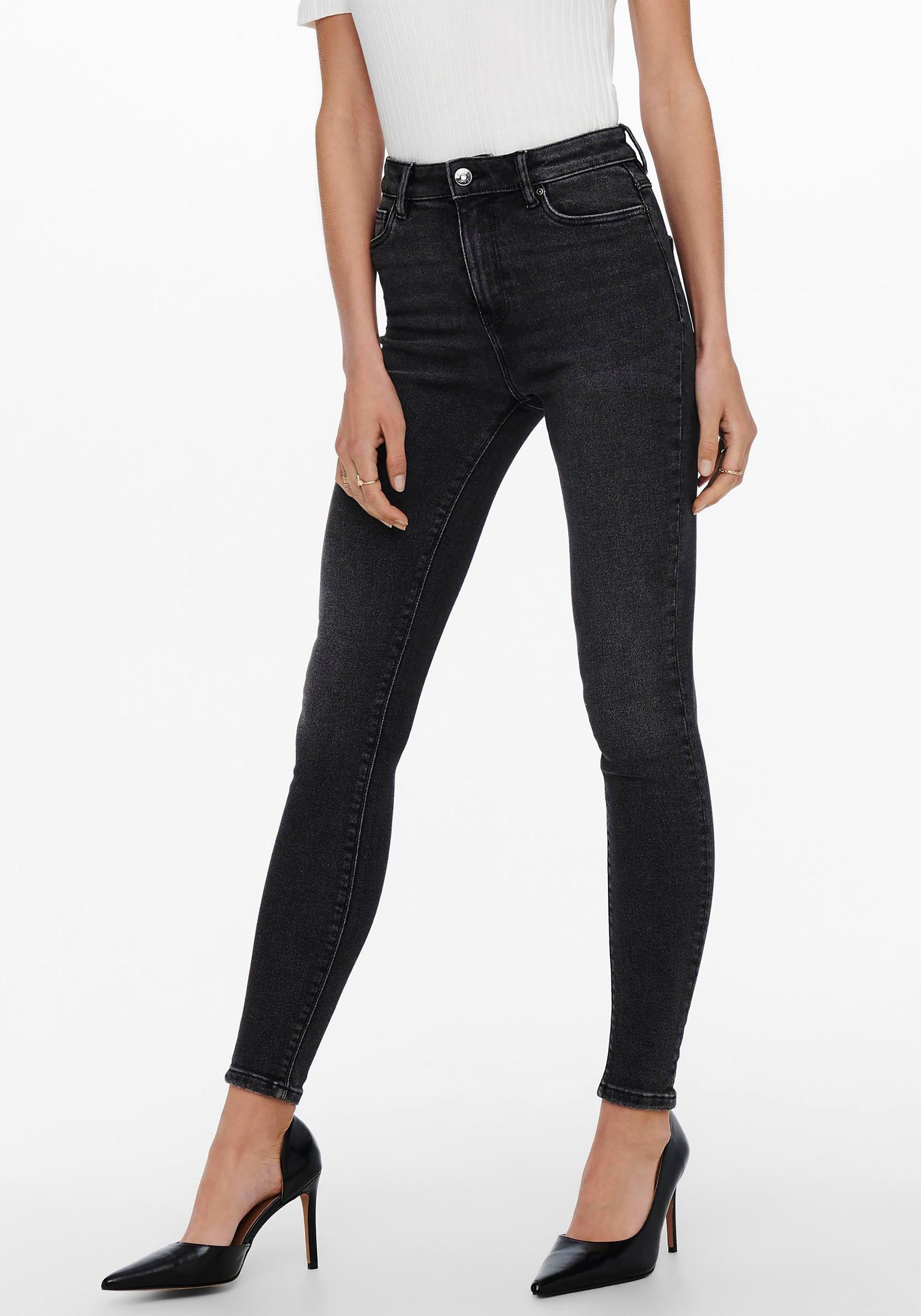 Only High-waist jeans ONLMILA LIFE HW SK ANK DNM nu online bestellen