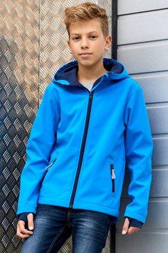 kidsworld softshell-jack met contrastkleurige details blauw