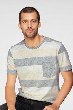 jack  jones t-shirt stripe tee crew neck blauw