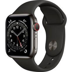 apple smartwatch watch series 6 inclusief oplaadstation (magnetische oplaadkabel) grijs
