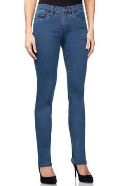 wonderjeans slim fit jeans hoog herstelvermogen zorgt voor een perfecte pasvorm blauw