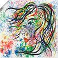 artland artprint modern portret in vele afmetingen  productsoorten - artprint van aluminium - artprint voor buiten, artprint op linnen, poster, muursticker - wandfolie ook geschikt voor de badkamer (1 stuk) multicolor