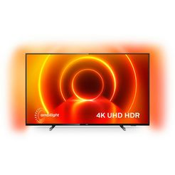 philips »65pus7805« led-tv grijs