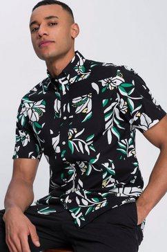 tommy hilfiger overhemd met korte mouwen zwart