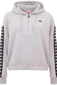 kappa hoodie »hanja« grijs