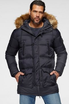man's world parka blauw
