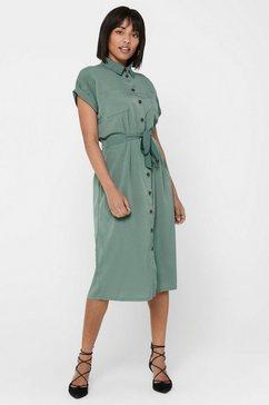 only jurk met overhemdkraag groen