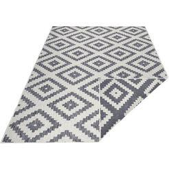 vloerkleed, »malta«, bougari, rechthoekig, hoogte 5 mm, machinaal geweven grijs
