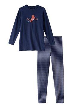 schiesser pyjama meisje blauw