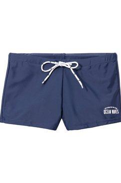 tom tailor zwemboxer in trendy unikleur blauw