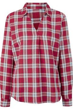 casual looks blouse met lange mouwen rood