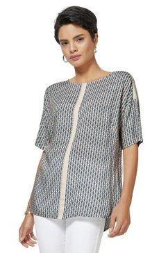creation l blouse in zijdeachtige matglanzende modalkwaliteit beige