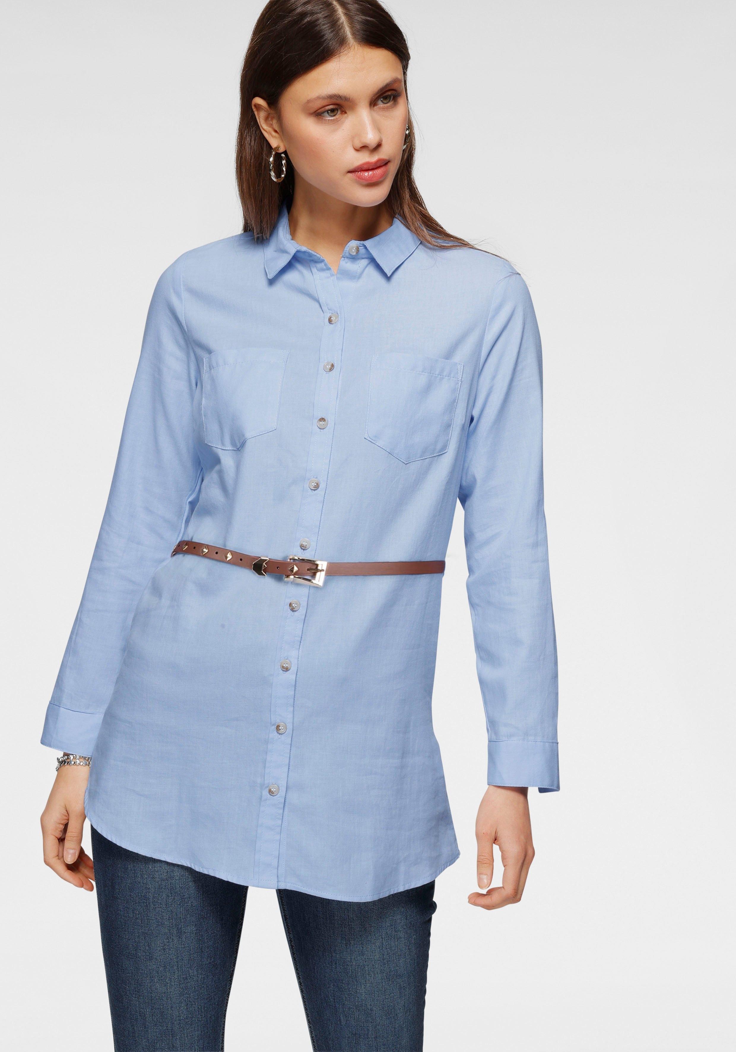 HaILYS lange blouse Larissa inclusief ceintuur nu online bestellen
