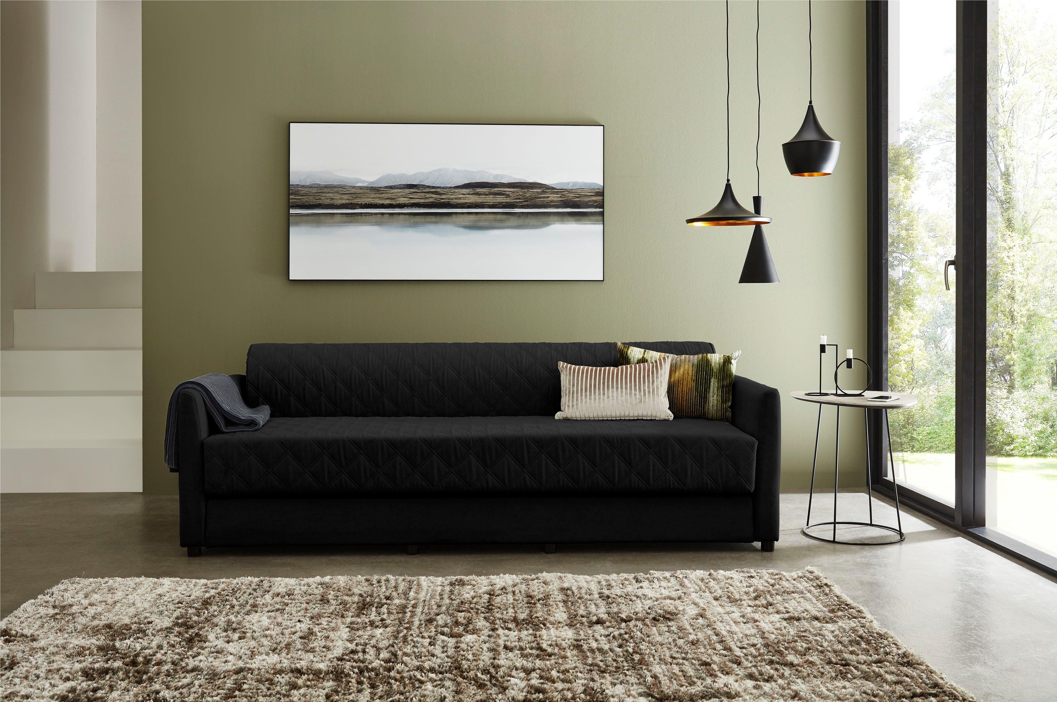 ATLANTIC home collection bedbank met slaapfunctie, inclusief topmatras met afneembare bekleding bij OTTO online kopen