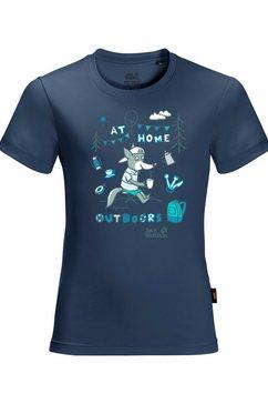 jack wolfskin t-shirt happy camper t kids blauw
