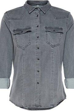 only jeansblouse »onlrockit« grijs