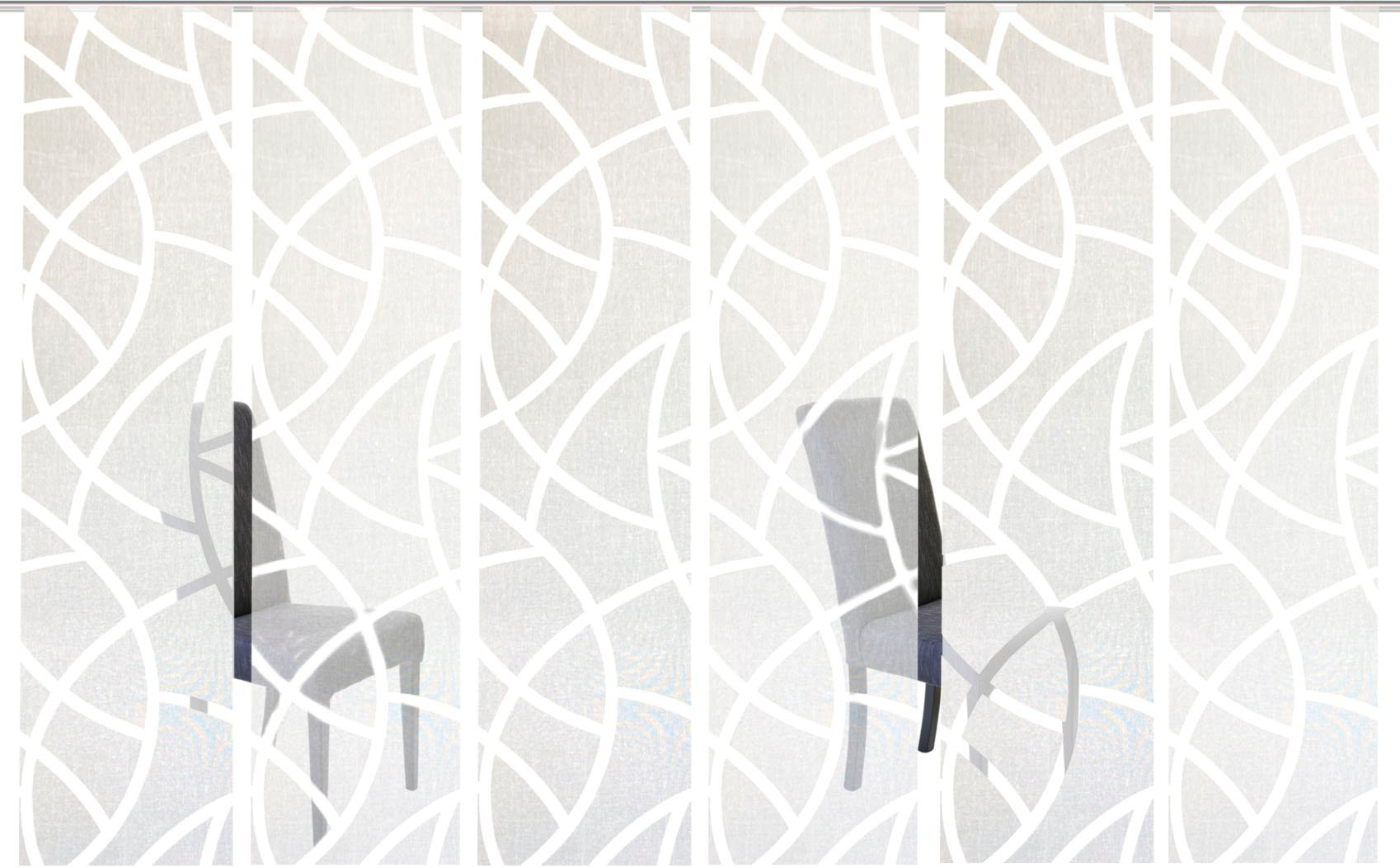 HOME WOHNIDEEN paneelgordijn CASSÉ Gordijnstof, met transparante scherli (6 stuks) - verschillende betaalmethodes