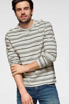 s.oliver shirt met lange mouwen in ringoptiek wit