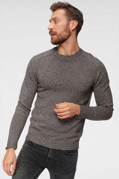 jack  jones trui met ronde hals »melin knit crew neck« blauw