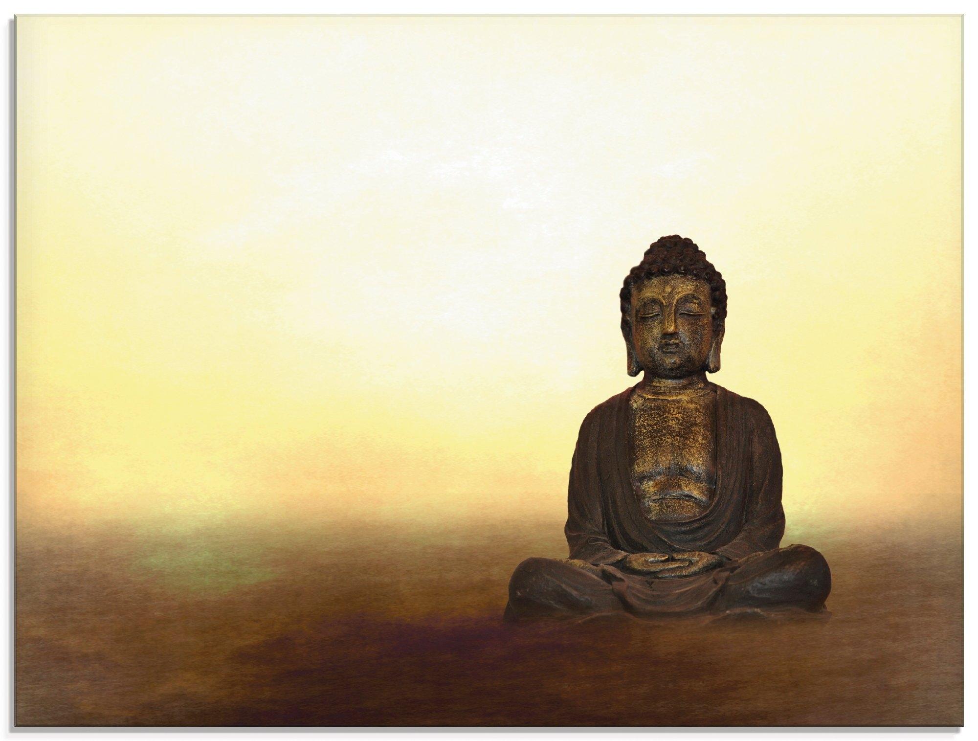 Artland print op glas Boeddha I (1 stuk) - gratis ruilen op otto.nl