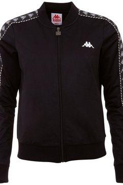 kappa trainingsjack imilia met jacquard logoband aan de mouwen zwart