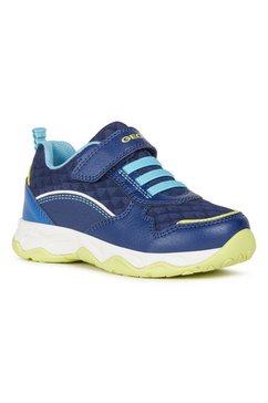 geox kids sneakers calco boy met klittenbandsluiting en elastiek blauw