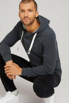 tom tailor hoodie met capuchondetail grijs