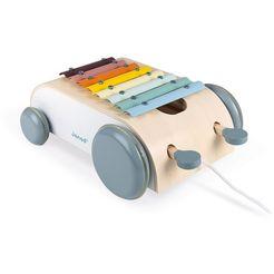 janod speelgoed-muziekinstrument sweet cocoon, xylofoon-wagen beige