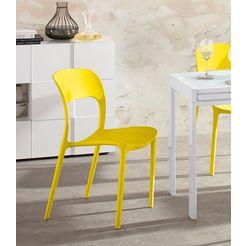 stoel (set van 4) (set, 4 stuks) geel
