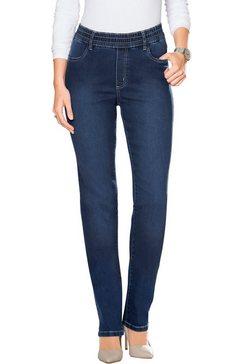 classic basics jeans met elastische band rondom blauw