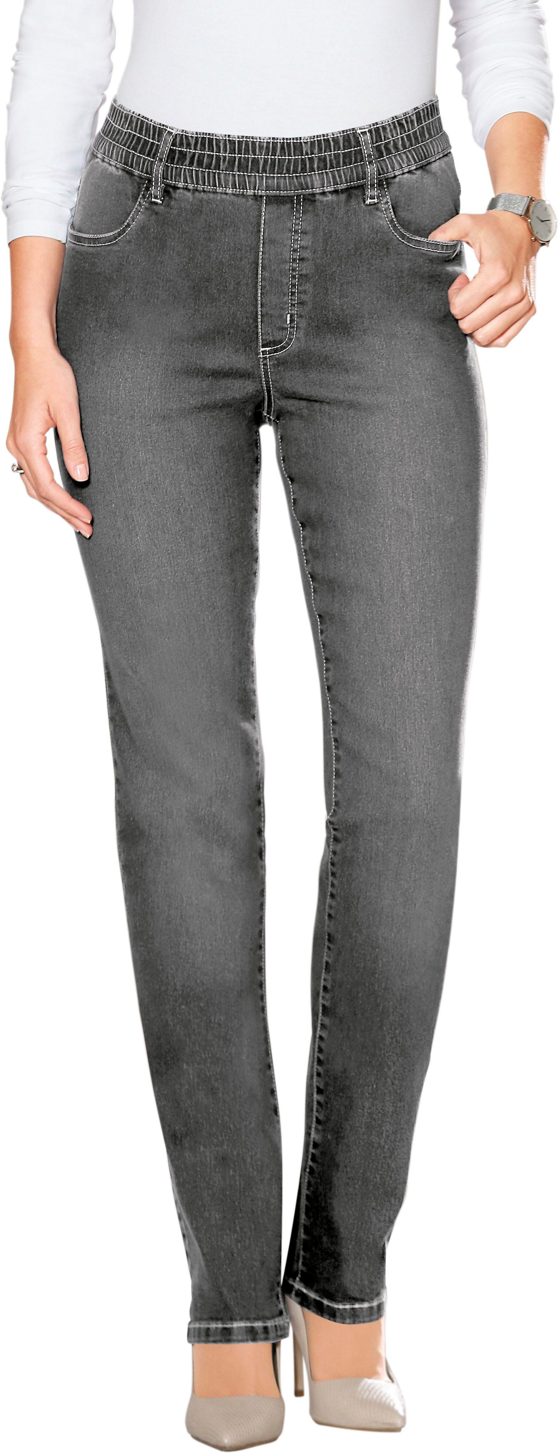 Classic Basics Jeans Met Elastische Band Rondom Online Kopen - Geweldige Prijs