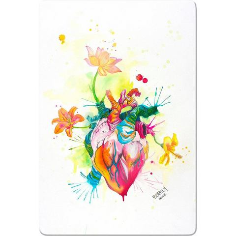 INOSIGN print op glas Buttafly Nature Beating Heart