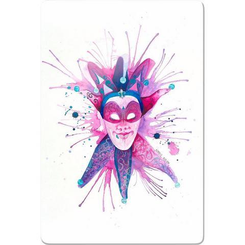 INOSIGN print op glas Buttafly Mardi Gras Mask