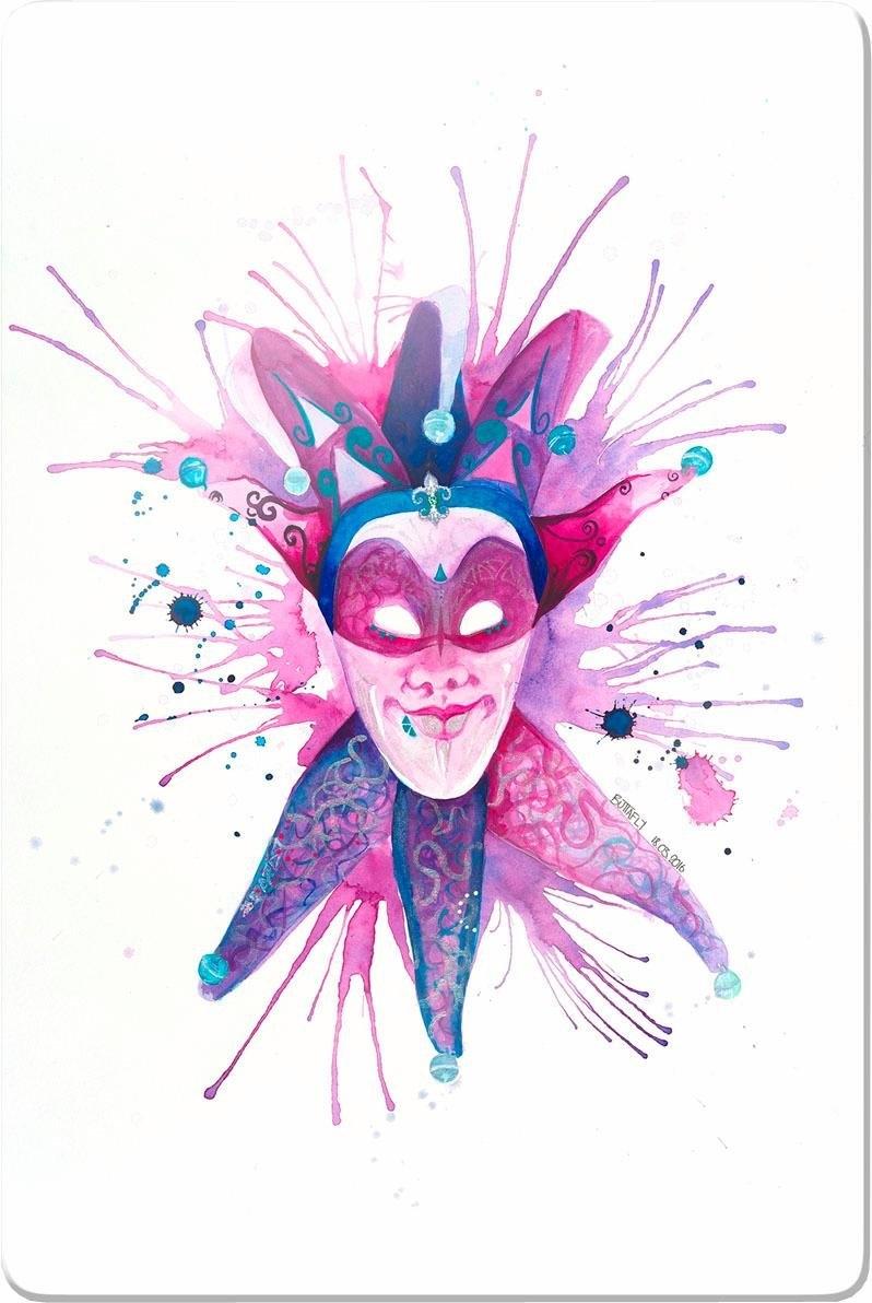 Wall-Art print op glas Buttafly - Mardi Gras Mask 40/60 cm bij OTTO online kopen