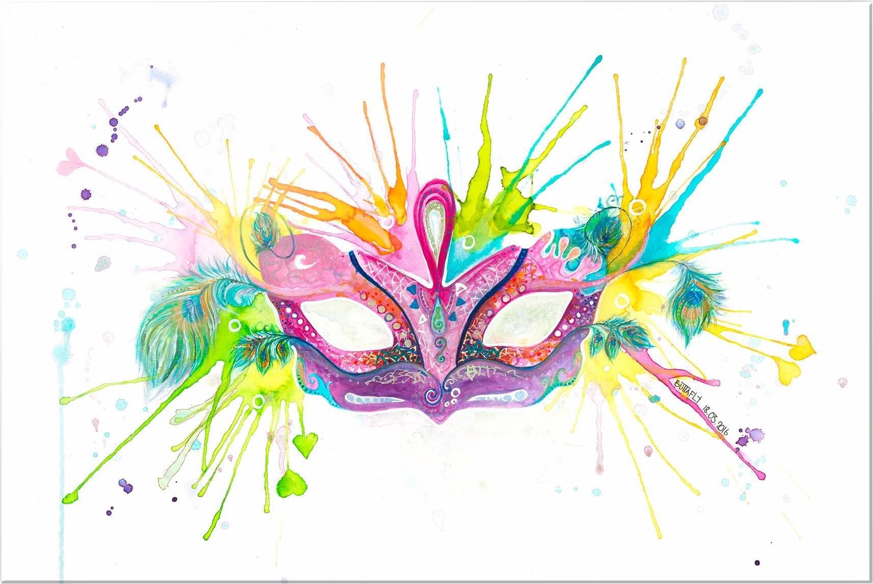 INOSIGN artprint op acrylglas »Buttafly - Mardi Gras« - gratis ruilen op otto.nl