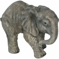 casa collection by jaenig spaarpot olifant lopend, breedte ca. 25 cm , hoogte ca. 17 cm grijs