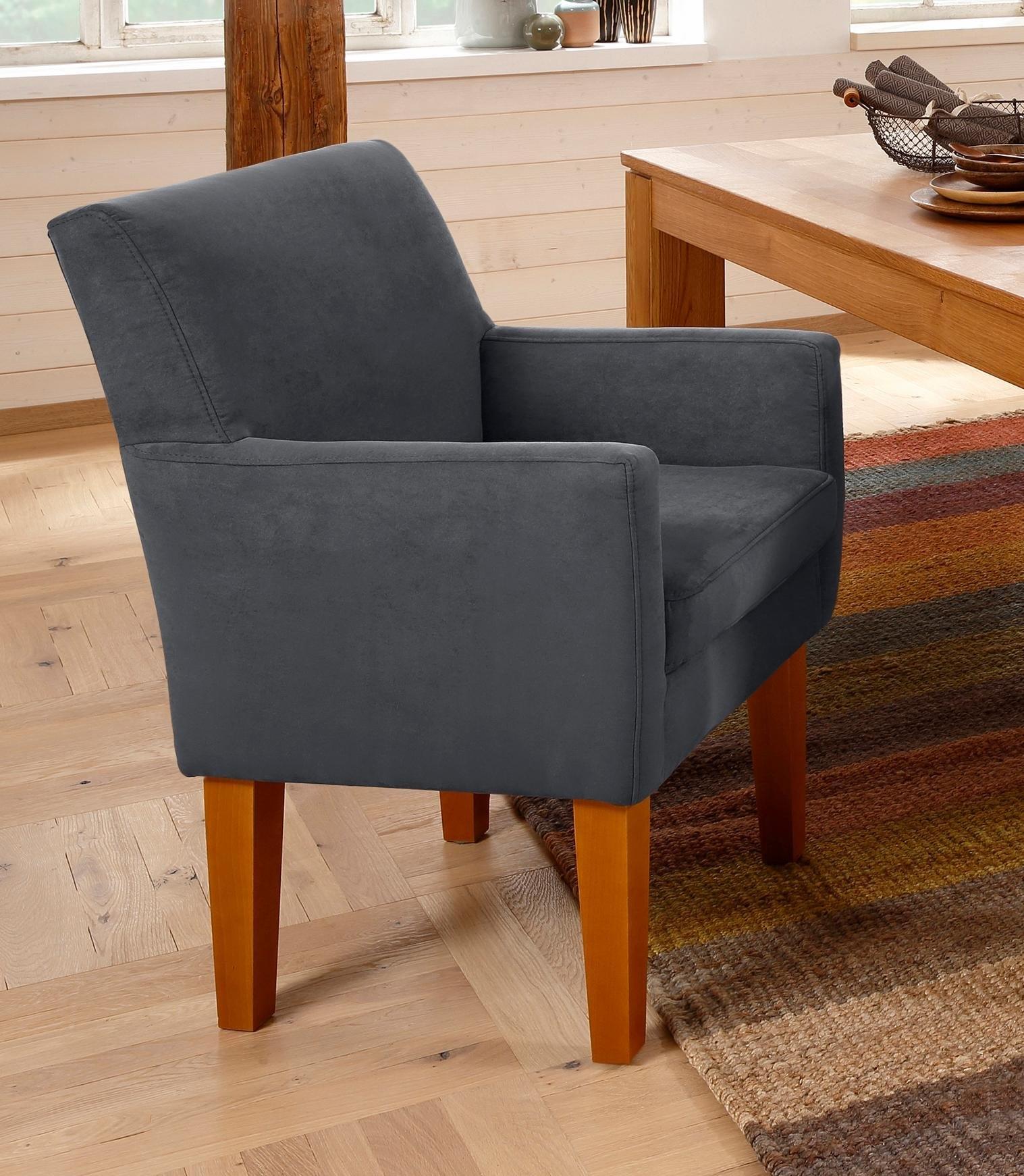Home affaire fauteuil Fehmarn comfortabele zithoogte van 54 cm, in 3 verschillende stofkwaliteiten - gratis ruilen op otto.nl