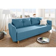 home affaire bedbank »scandic« blauw