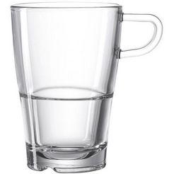 leonardo latte-macchiatoglas senso hittebestendig en sterk (set, 6-delig) wit