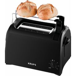 krups toaster pro aroma kh1518 kruimellade, 6 bruiningsgraden, liftfunctie zwart