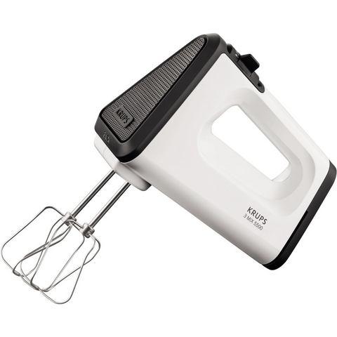 Krups handmixer GN5021 3 Mix 5500, wit-zwart