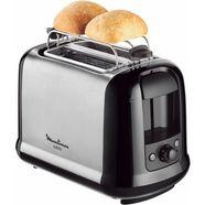 moulinex toaster lt2618 subito, voor 2 sneetjes brood, 850 w, edelstaal-zwart zilver