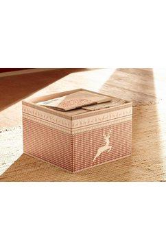 home affaire opbergbox arosa ook in een set van 2 beige