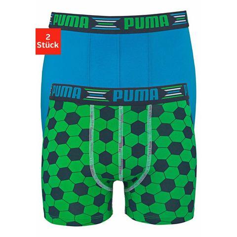 Puma NU 15% KORTING: Puma jongensboxershort Play World Cup Print Boxer (set van 2)