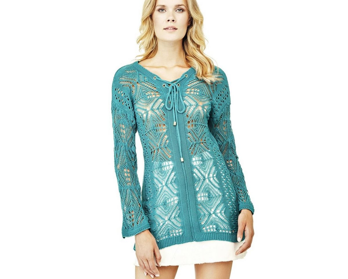 Guess jurk borduursel blauw